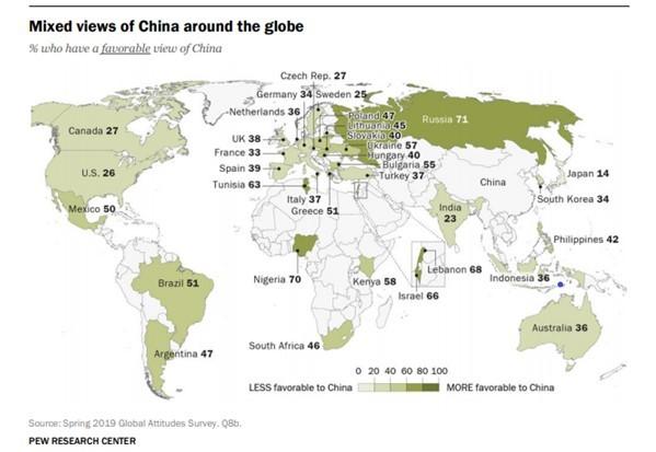 中国を好きな国、嫌いな国