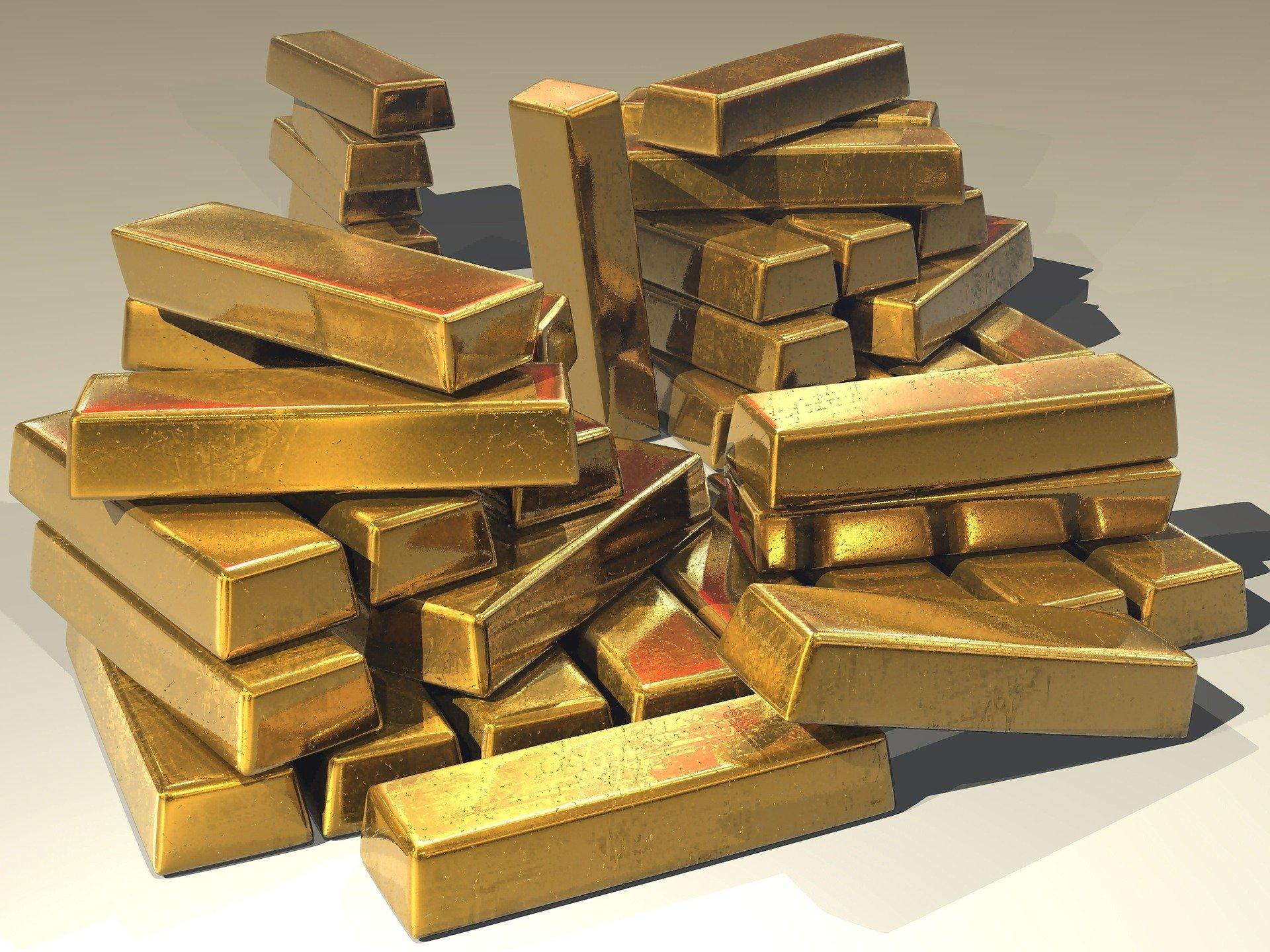 外貨準備高の中で輝く金